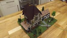 Model Railway -  building - large Tudor Farm house with barn & lights + more