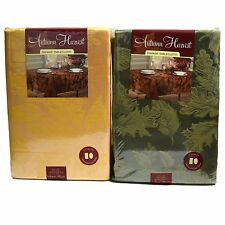 Autumn Harvest Damask Fall Fabric Tablecloth Thanksgiving Green Or Gold