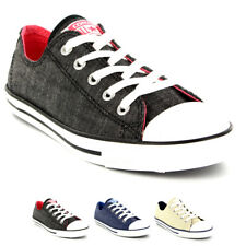 Womens Converse Dainty Denim Ox All Star Chuck Taylor Lace Up Trainers UK 3-8