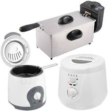 DEEP FAT FRYER NON STICK OIL LID CHIP FISH KITCHEN FRY STAINLESS STEEL FRYERS