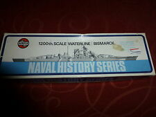 Airfix  waterline series Bismarck 1200th scale  new  and unmade