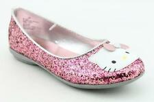 "NIB Hello Kitty Toddler/Little Girl ""Julia"" Sequined Pink Ballet Flat-Sizes 5-10"