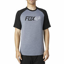 Fox Racing Mens Heather Graphite/Black Warmup Short Sleeve Tech T-Shirt Tee