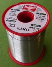 MULTICORE SOLDER WIRE TIN LEAD COPPER  5 CORE FLUX 18 SWG 1.2MM 2.5KG REEL