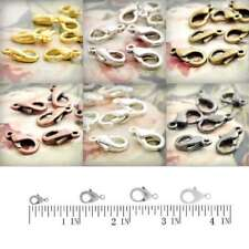 30g 10/12/14/15mm  Zinc Alloy Hooks Lobster Claw Clasps Jewelry Finding Lot