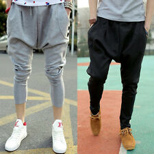 Mens LOOSE Dance Sportwear Baggy Harem Pants Slacks Jogger Trousers Sweatpants