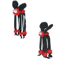 Wiley Lady Bug for Dog Toy - strong seat belt nylon legs - Constructed of rubber