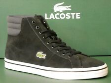 LACOSTE MARCEL MENS UK SIZE 6.5 SUEDE MID HIGH SHOES SPM BLACK DARK GREY BOOT