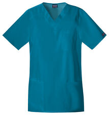 Scrubs Cherokee Workwear TALL Unisex V-Neck Top 4701Caribbean Blue FREE SHIPPING