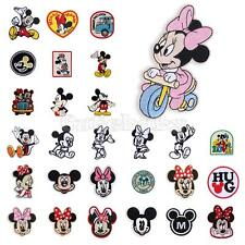 Mickey Minnie Mouse Embroidered Applique Iron On Sew Patch Transfer Accessories