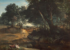 """Camille Corot : """"Forest of Fontainebleau"""" (1834) — Giclee Fine Art Print"""