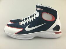 Mens Nike Air Zoom Huarache 2K4 Navy Blue White Red 308475-400 USA Olympics Kobe