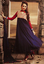 Indian Bollywood Style Dress Semi Stitch Anarkali Suit Georgette Salwar Kameez