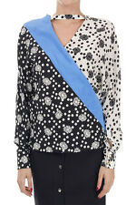 EMANUEL UNGARO top long sleeved black and white 100% seta made in italy