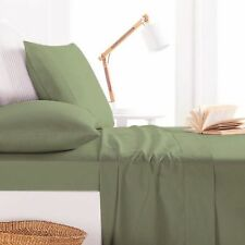 800TC Egyptian Cotton WATERBED SHEET SET Sateen Moss