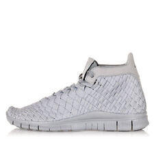NIKE Men Silver Fabric FREE INNEVA WVN MID SP High Sneakers New with Tag