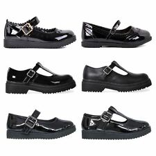 New Kids Girls Back to School Formal Patent T-Bar Mary Jane Shoes Childrens Size