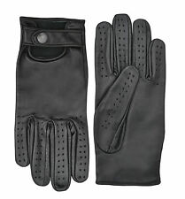 LEATHER CLASSIC DRIVING GLOVES CHAUFFEUR POLICE WEIGHT BIKERS & WHEELCHAIR