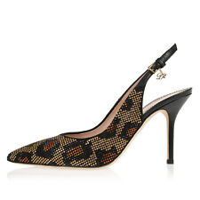 DSQUARED2 Dsquared² Women New Leather Heels Pumps Shoes with Beads Made in Italy