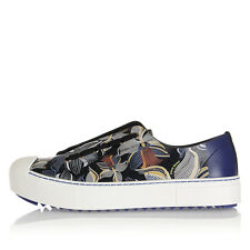 FENDI Women New Leather Printed ORCHIDEA Shoes Sneakers Made in Italy