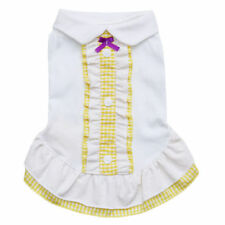 Pet Clothes Puppy Cotton Skirt Dog Clothing Dress Teddy Summer Apparel 5 color