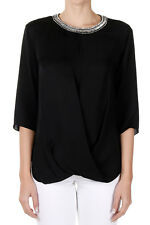 MICHAEL MICHEAL KORS Women Silk Blusa with applied jewellery in Black