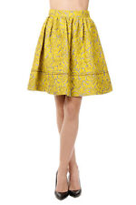 PRADA CLOQUET Woman Flared Skirt in Silk and Cotton Made in Italy