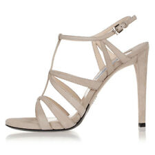 PRADA Women Beige Suede Cage Sandals Shoes Heel Made in Italy NWT $659