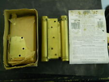 """Antique NOS Chicago Simplex 6"""" Double Acting Saloon Spring Hinges Heavy Duty USA"""