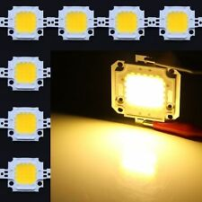 10Pcs 10W Warm white High Power LED SMD Chips Light Lamp DIY DC9-12V 800-900LM