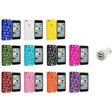 For Apple iPhone 5C Color Birds Nest Slim Hard Snap-On Case Cover+Dual Charger