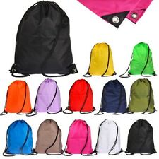Swimming Drawstring Beach Bag Sport Gym Waterproof Backpack Duffle Sack Bag New