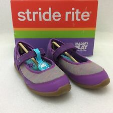Youth Girls Stride Rite Made 2 Play Terry Mary Janes shoes, Purple