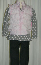 NWT Girl's 3 Piece Pink & Gray Outfit by Nannette