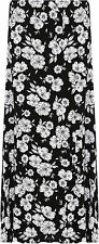 Womens Plus Floral Maxi Skirt Ladies Print Elasticated Waist Full Length