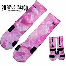 NIKE BREAST CANCER AWARENESS Custom Nike Elite Socks (ALL SZ) V3 Jordan