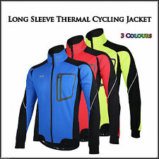 Winter Breathable QuickDry Long Sleeve Fleece Thermal Cycling Jacket Bike Riding