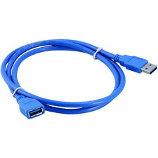 NEW Data Cable Type A Male to A Female for PC Blue USB 3.0 Extension SuperSpeed