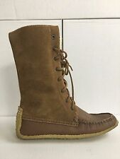Canadian Women's Brown Suede Snowshoe Boots