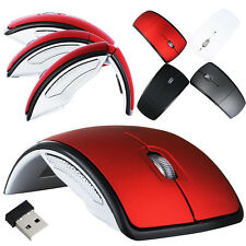 2.4G Optical Foldable Folding Wireless Mouse Mice+USB Snap-in Receiver