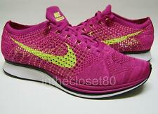 Nike Flyknit Racer Fireberry Volt Pink Flash Mens Trainers 526628-607