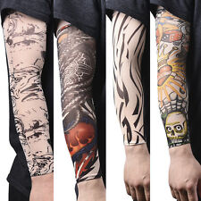 1/2/14x Nylon Fake Temporary Tattoo Sleeve Arm Stockings Tatoo For Men Women JR