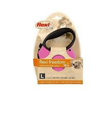 Flexi Freedom Soft Grip Retractable Dog Leash - L - Pink - 16' Up to 110lbs