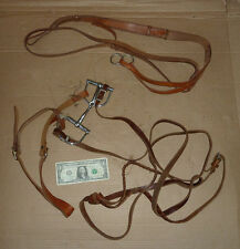 Vintage Bit,Bridle,Reins,Other Leather Strap,Horse Ridding Tack,Tools,Equestrian
