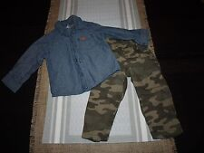 Baby Boy 2-Piece Outfit Shorts Shirts Pants Button Down Shirts 18 Months Carters