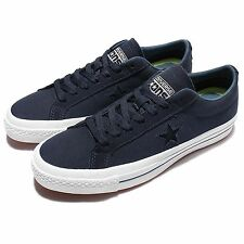 Converse CONS One Star Canvas OX Navy White Suede Mens Casual Shoes 153708C