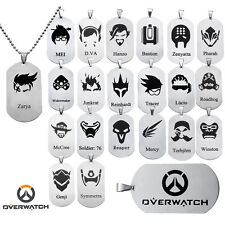 Hot sale Overwatch Whole Hero Stainless Steel Necklace Pendant Fashion Jewelry