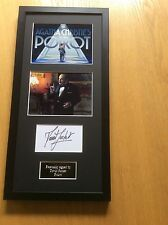 David Suchet Poirot Hand Signed Professionally Mounted Frame