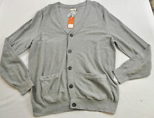 NWT! MEN'S SONOMA SWEATER BUTTON FRONT GRAY POCKETS LONG SLEEVE MSRP $60