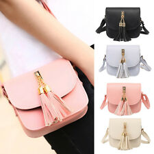 Fashion Women Shoulder Bag Tassel Faux Leather Messenger Handbag Crossbody Bags